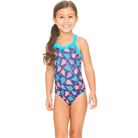 Zoggs Pears Ruffle X Back Swimsuit Girls